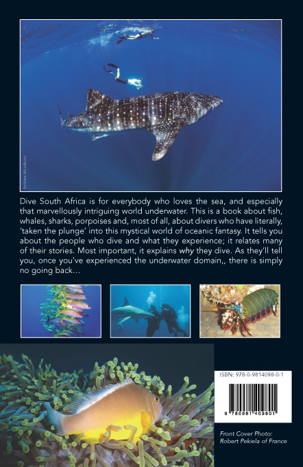 DIVE SOUTH AFRICA Book back cover