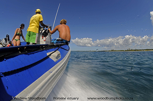 Dive boat at Pomene Mozambique c A Woodburn