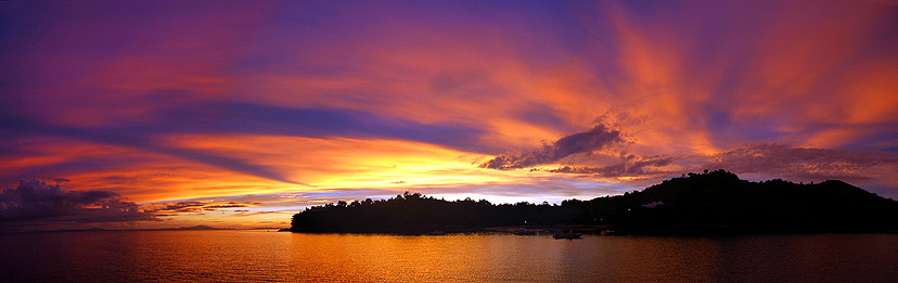 copyright andrew woodburn www.woodburnphoto.co.za, sakatia sunset  in madagascar after a full diving day
