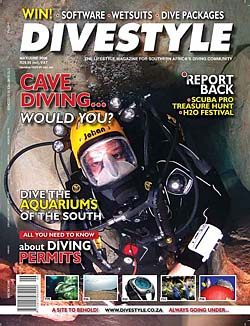 Andrew Woodburns underwater photos in Divestyle Magazine