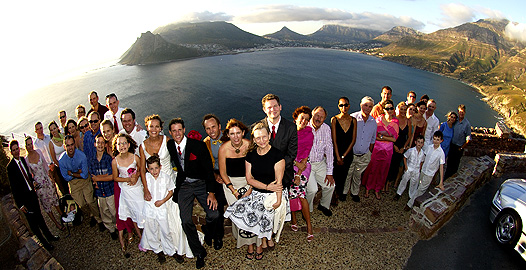 copyright Andrew Woodburn collection, wedding photography of the bridal party  on Chapmans Peak drive, Capetown